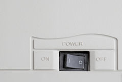 Power switch. On the grey background Royalty Free Stock Images
