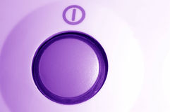 Power switch. Purple power switch royalty free stock photography