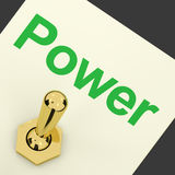 Power Switch As Symbol For Energy And Industry Royalty Free Stock Photography