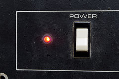 Power switch on or off Stock Photography