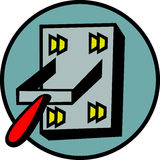 Power switch vector illustration Stock Images