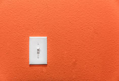 Power switch on the wall. Stock Image
