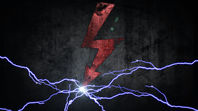 Power symbol. Electrical discharges in sign. energy concept Stock Images