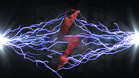 Power symbol. Electrical discharges in sign. energy concept Royalty Free Stock Photo