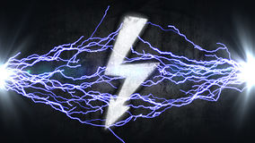 Power symbol. Electrical discharges in sign. energy concept Stock Photo