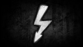 Power symbol. Electrical discharges in sign. energy concept Stock Image