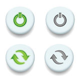 Power and sync. Button Royalty Free Stock Image