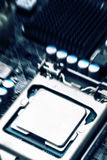 Power system processor and motherboard Royalty Free Stock Photo