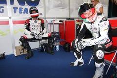 Power team by Suriano Triumph Daytona Royalty Free Stock Photo