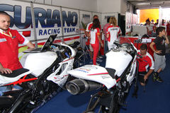 Power team by Suriano Triumph Daytona Royalty Free Stock Images
