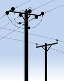 Power Telegraph Phone Lines Royalty Free Stock Images