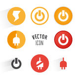 Power themed icon set Stock Photography