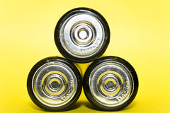 Power of three batteries Royalty Free Stock Photography