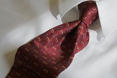 Power tie. Red business tie and shirt Stock Image