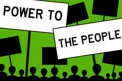 Power to the people Royalty Free Stock Photography