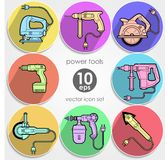 Power tool set. Vector illustration Stock Photo