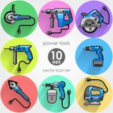 Power tool set. Vector illustration Stock Photography