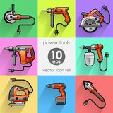 Power tool set. Vector illustration Stock Image