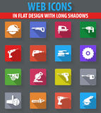 Power tools icons set vector illustration