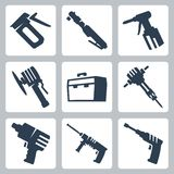 Power tools vector icons Royalty Free Stock Images