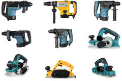 Power tools, on a white background. Stock Images