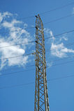 Power tower. Image of tower and electric lines Royalty Free Stock Images