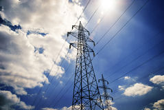 Power tower Stock Images
