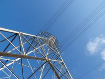 Power Tower. Electric power tower on a sunny California day Royalty Free Stock Images