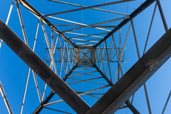 Power tower carrying high voltage lines Stock Image