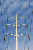 Power tower. High voltage power tower against sky Royalty Free Stock Image