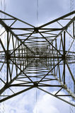 Power tower. High voltage tower with blue sky royalty free stock images