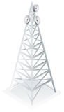 Power tower with satellite dish Stock Image