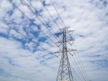 Power tower on sky Stock Photos