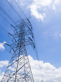 Power tower on sky. Sunny day royalty free stock photos