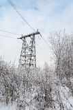 The power tower. A tower for transmission of electricity to homes Stock Photography