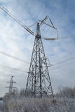 The power tower. A tower for transmission of electricity to homes Royalty Free Stock Photos