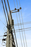 Power Tower. Transmission line of power tower with blue sky Royalty Free Stock Image
