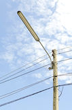 Power Tower. Transmission line of power tower with blue sky Royalty Free Stock Photography
