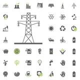 Power Towers icon. Eco and Alternative Energy vector icon set. Energy source electricity power resource set vector. Power Towers icon. Eco and Alternative Royalty Free Stock Photos