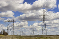 Power Towers and Lines Royalty Free Stock Image