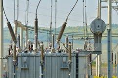 Power transformer details Stock Photo