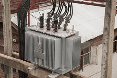 Power transformer Stock Image