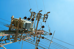 Power transformer Stock Image