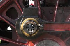 Power transmission. Connecting rod, Detail of an historic steam engine stock photos