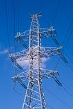 Power transmission. Tower carrying electricity from different parts of country Stock Photo