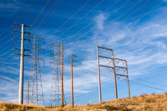 Power Transmission Electrical Lines Royalty Free Stock Photos