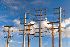 Power Transmission Electrical Lines Royalty Free Stock Photography
