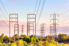 Power Transmission Electrical Lines stock photography