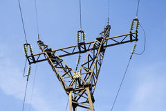 The power transmission line. Construction stock photos