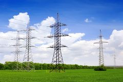 Power Transmission Line. Royalty Free Stock Image